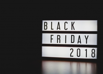 """lightbox on a black background and with the text """"Black Friday 2018""""."""